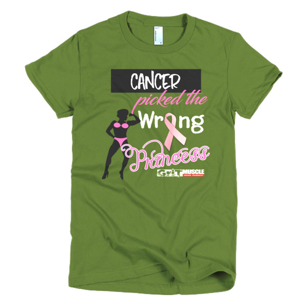 Cancer Picked the Wrong Princess women's t-shirt – Grit Muscle
